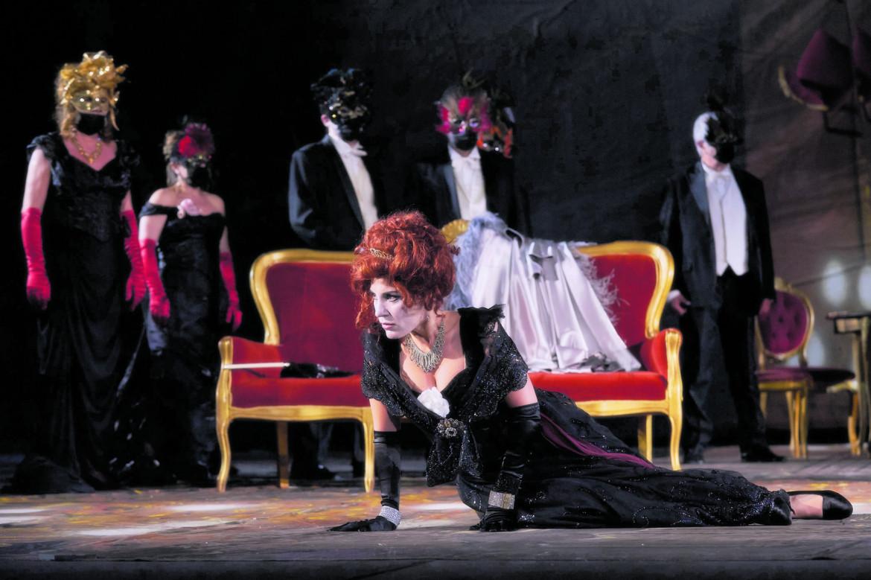 Una scena da «La Traviata»