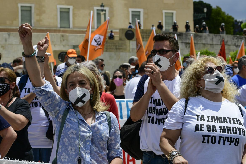 Atene, manifestazione contro la riforma del lavoro nel giugno scorso