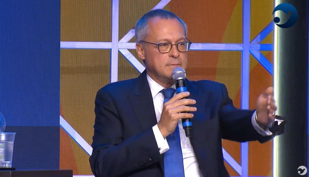Il presidente di Confindustria Carlo Bonomi al Meeting di Rimini