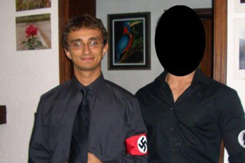 Il deputato di Fdi Galeazzo Bignami in divisa nazista