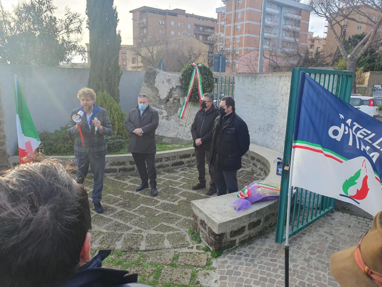 Una manifestazione per il Giorno del ricordo di Fratelli d'Italia