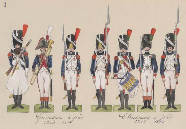 Granatieri e cacciatori a piedi della Guardia Imperiale di Napoleone (1804-1814)