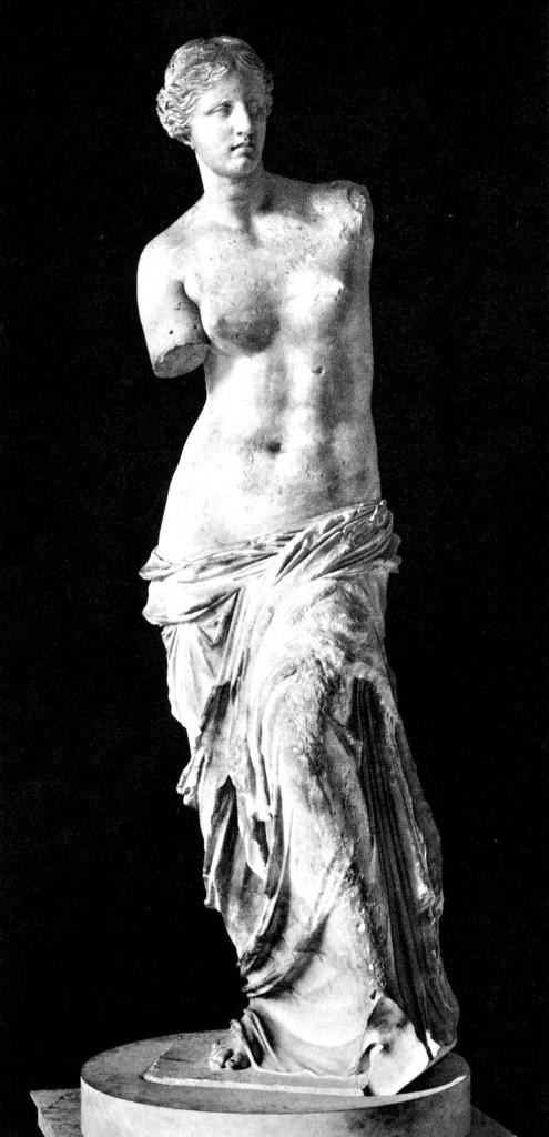 Statua di Afrodite, detta Venere di Milo dal luogo del ritrovamento, fine II sec. a.C.,  Parigi, Museo del Louvre