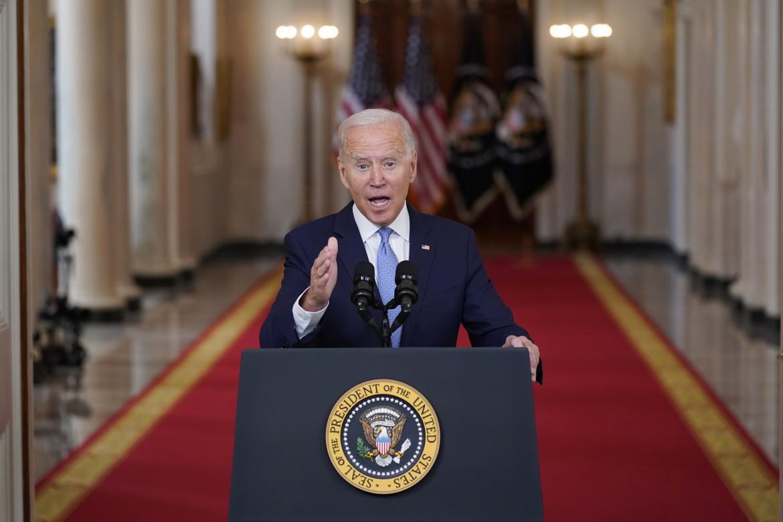 Joe Biden durante il discorso alla nazione di martedì