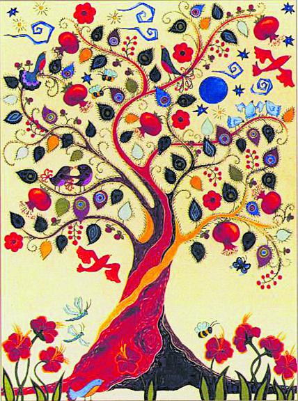 Un'opera dell'artista Karla Gudeon
