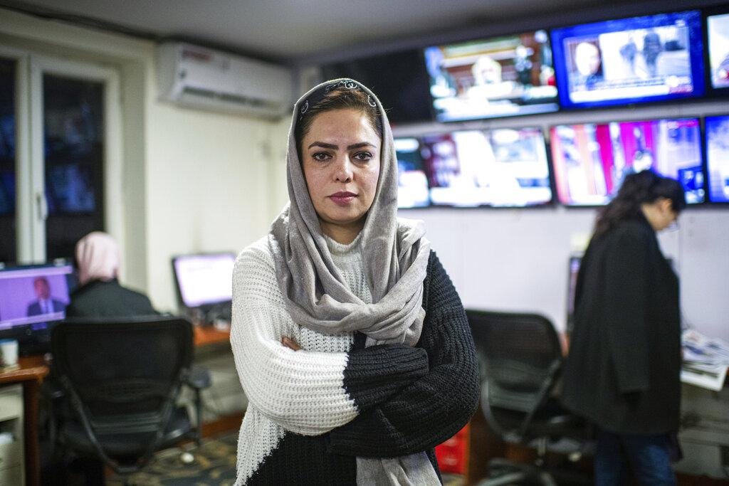 Anisa Shahid, una delle giornaliste più note dell'Afghanistan, nel gennaio 2021