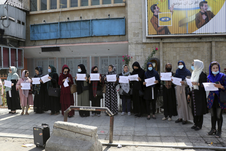 Donne in protesta a Kabul