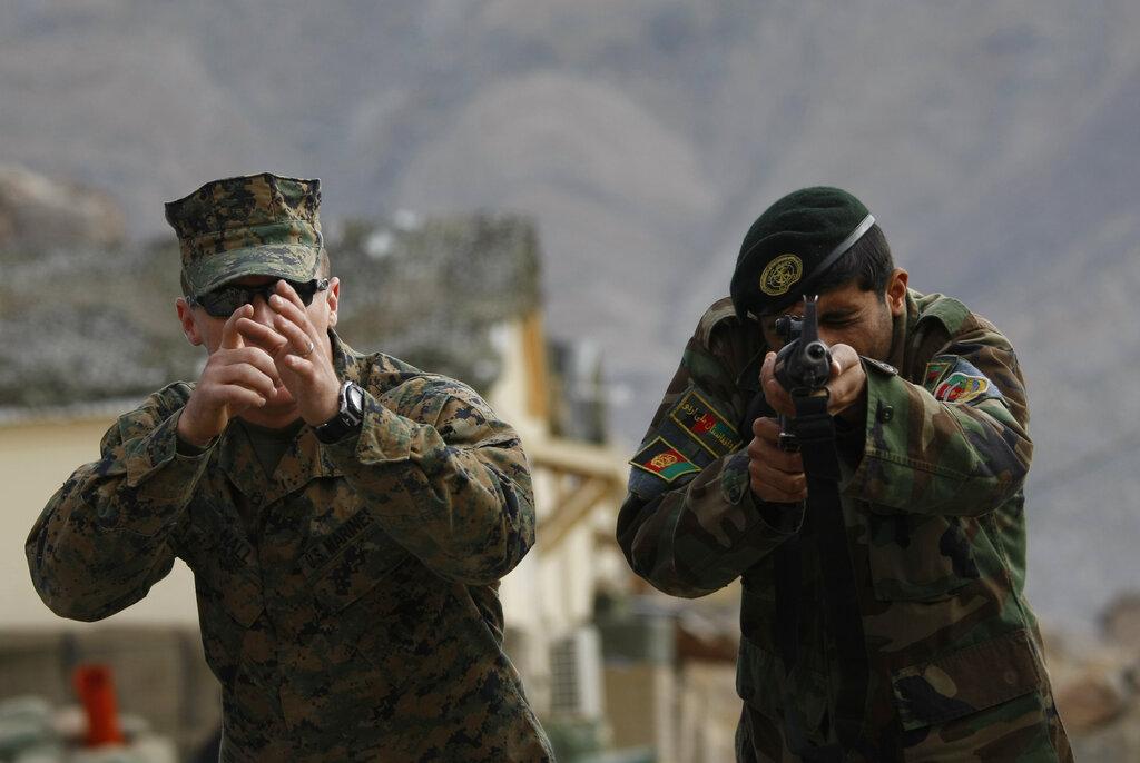 L'addestramento dei militari afghani da parte dell'esercito Usa