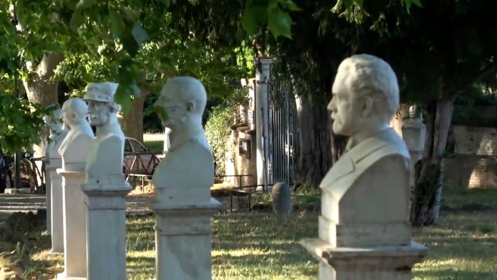 I busti degli insorti della Repubblica romana al Gianicolo