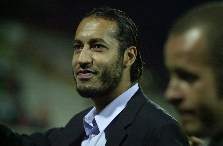 Saadi Gheddafi ai tempi in cui giocava nel Perugia, nel 2004