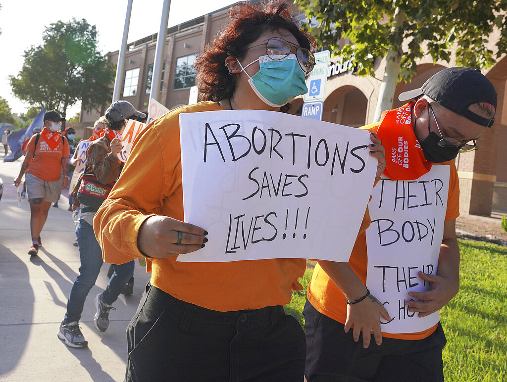 Una manifestazione in Texas per il diritto all'aborto