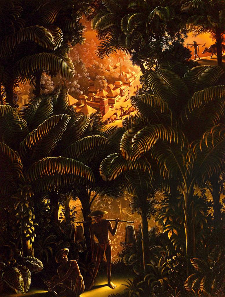 Uno dei dipinti primitivisti realizzati da Walter Spies durante il periodo balinese, tra anni venti e trenta