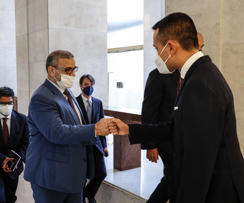 L'incontro ieri alla Farnesina tra Di Maio e il presidente dell'Alto Consiglio libico al-Mishri