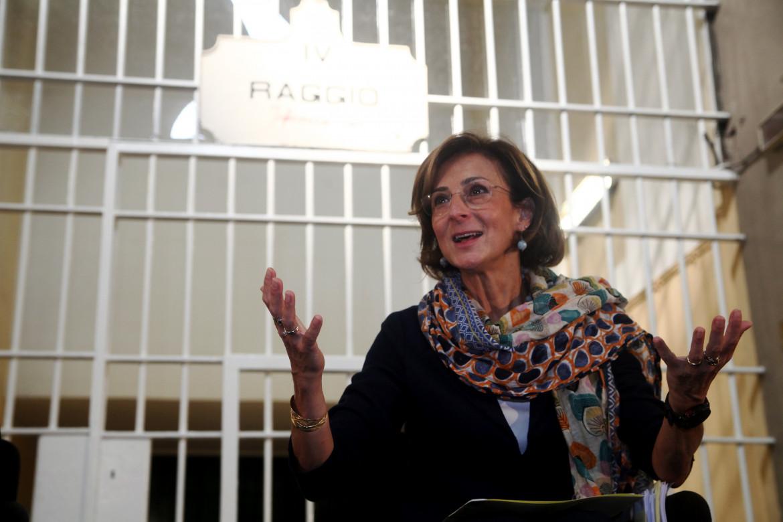 La ministra Marta Cartabia a San Vittore nel 2018