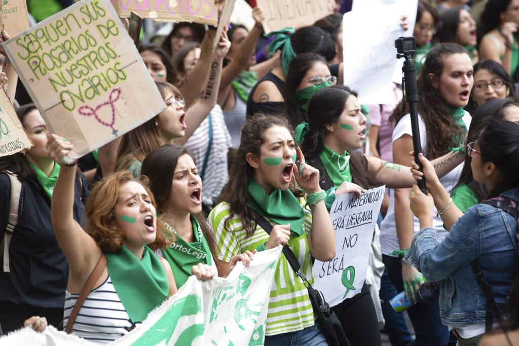 Attiviste messicane per il diritto all'aborto