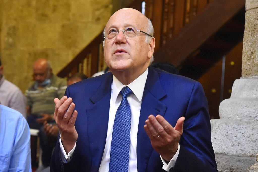 Najib Mikati, Primo ministro libanese in preghiera a Beirut