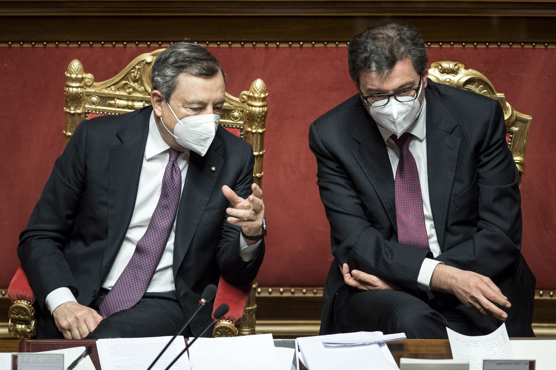 Mario Draghi e Giancarlo Giorgetti