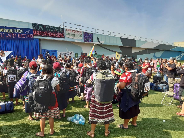 La delegazione zapatista a Vienna