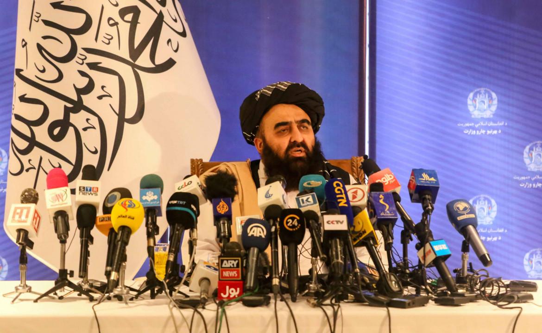 Il ministro degli Esteri a interim del governo talebano, il mawlawi Amir Khan Muttaqi, ieri a Kabul