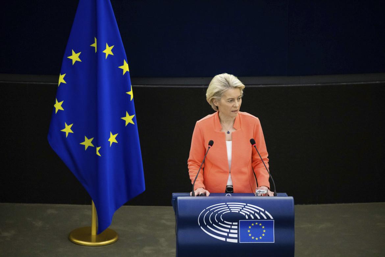 Ursula von der Leyen all'europarlamento di Strasburgo