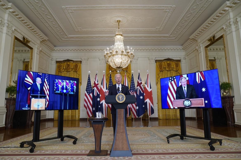 Biden in video conferenza con il britannico Johnson e l'australiano Morrison