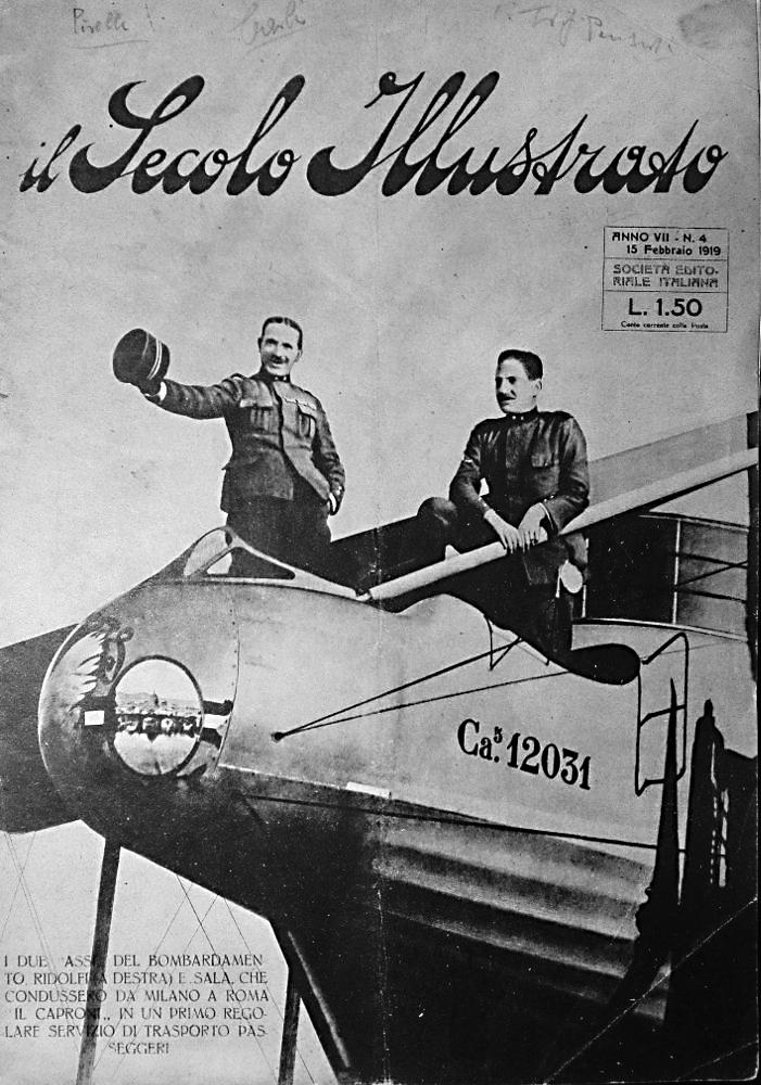 1919, copertina de «Il Secolo Illustrato» diretto da Tullo Morgagni