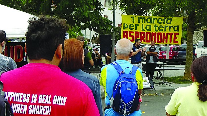 Manifestazione in Aspromonte