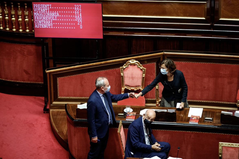 La ministra della giustizia in aula al senato