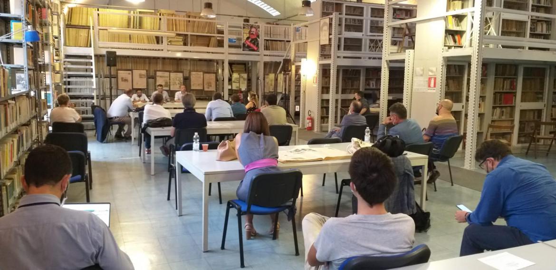 L'interno dell'Istituto Gramsci Siciliano