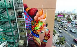 Un murales di Curiot in una strada di Citt del Messico