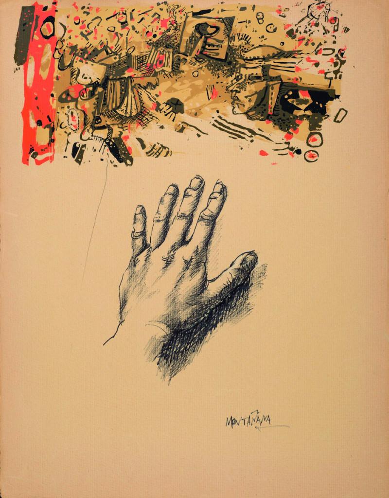 Un'opera di Federico Montañana Alba (tecnica mista su carta)