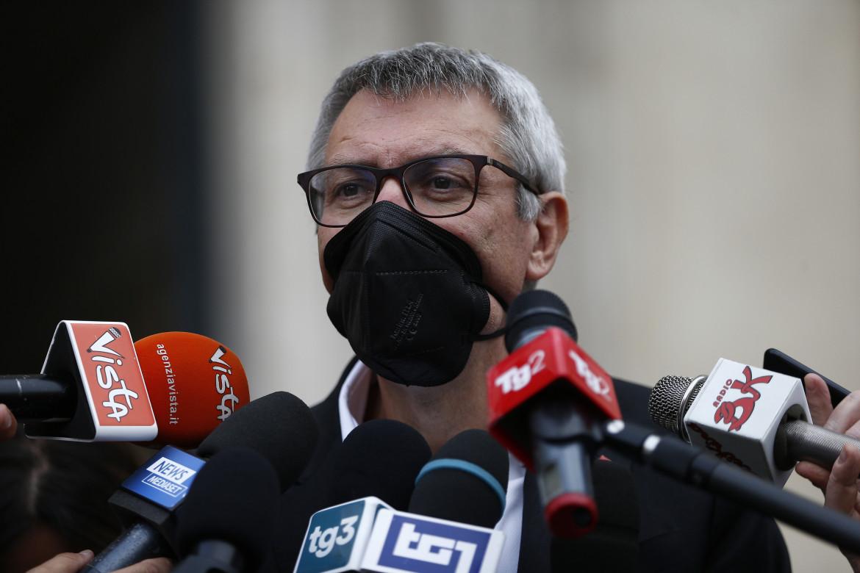 Il segretario della Cgil Maurizio Landini