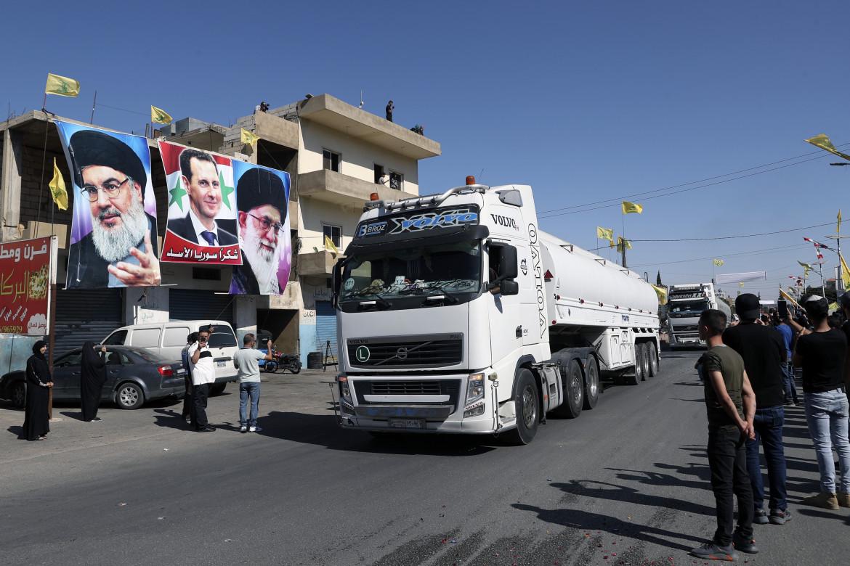 Un camion del gas proveniente dall'Iran