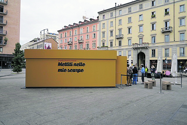Le foto sono state scattate il giorno dell'inaugurazione di «Empatia Milano»