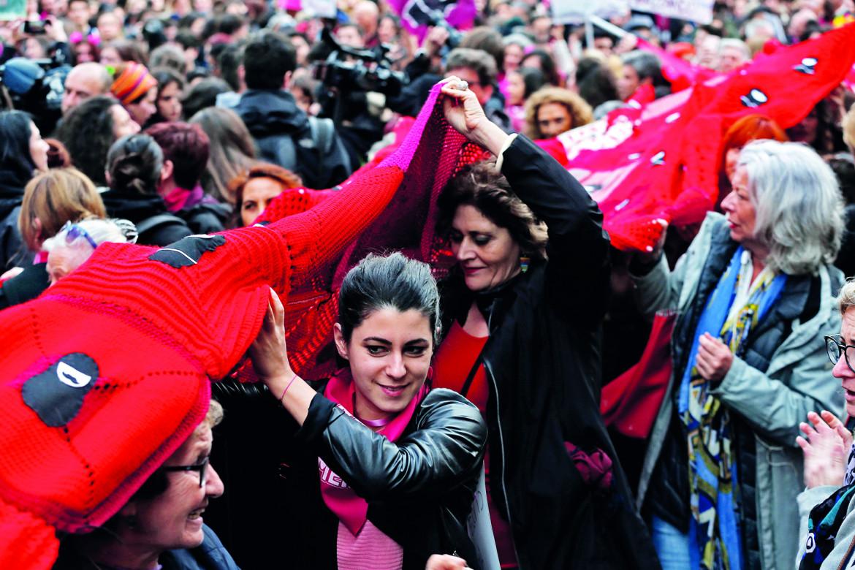 Una manifestazione di «Non una di meno» dell'8 marzo