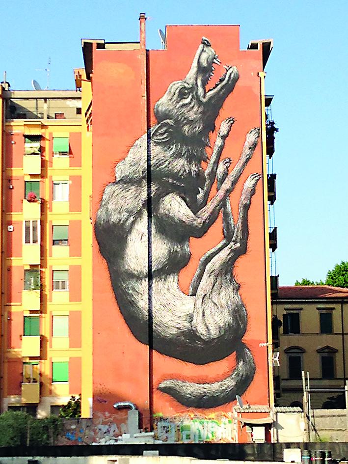 «The jumping wolf» di Lucamaleonte (Testaccio)