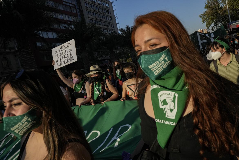 Santiago del Cile, lo scorso martedì, durante la giornata globale per l'aborto libero e sicuro
