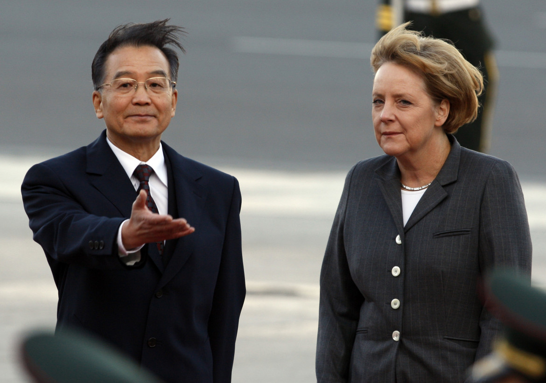 Merkel a Pechino con l'allora premier cinese Wen Jiabao