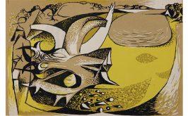 Litografia di John Craxton dalla serie realizzata per lantologia The Poets Eye di Geoffrey Grigson 1944