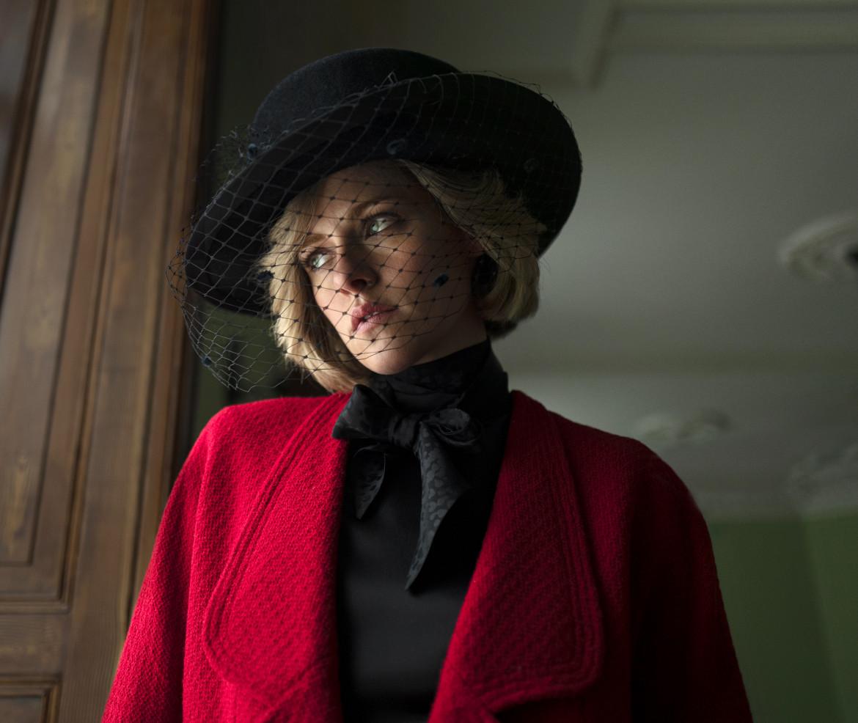 Kirsten Stewart nel film, foto Courtesy Pablo Larraín