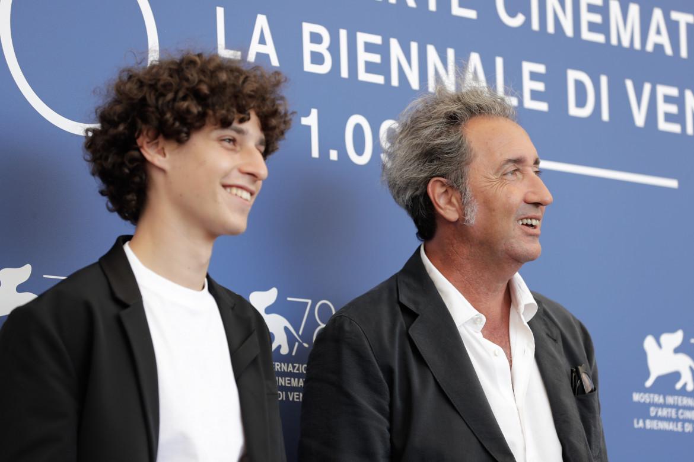 Filippo Scotti e Paolo Sorrentino