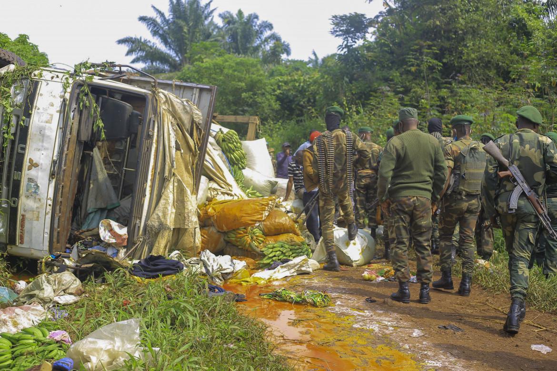 Forze congolesi sul luogo in cui, nel pressi della città di Beni, una attacco delle Adf ha causato lo scorso luglio la morte di almeno 18 civili