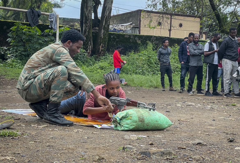 Addestramento di milizie filogovernative a Gondar
