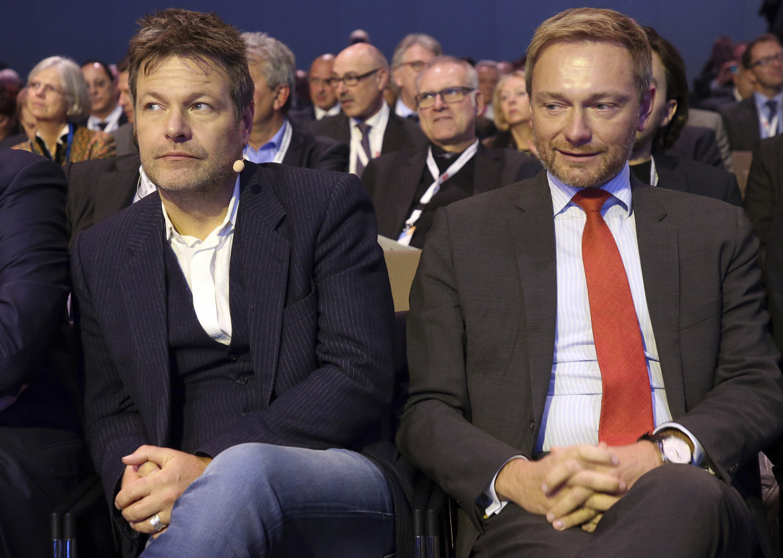 Robert Habeck (Verdi) e Christian Lindner (Fdp)