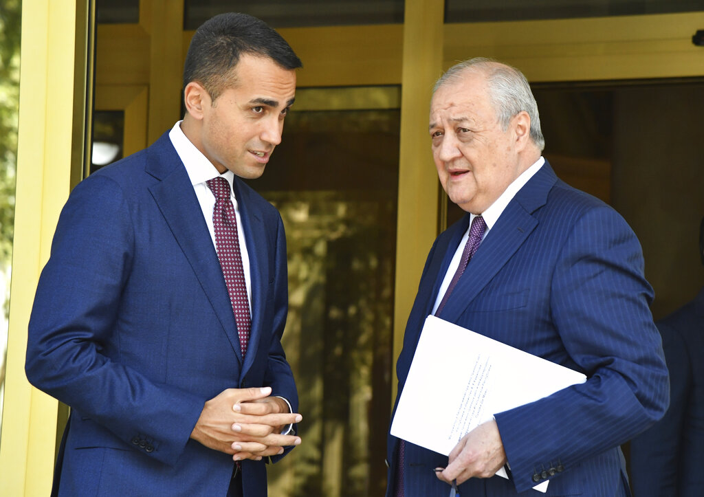 Di Maio con Kamilov, ministro degli esteri uzbeko