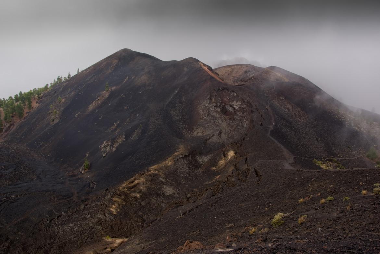 Il cratere Duraznero, nel vulcano San Juan, all'interno della Cumbre Vieja de La Palma