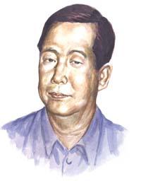 Un ritratto di Tun Myint Naing, aka Steven Law