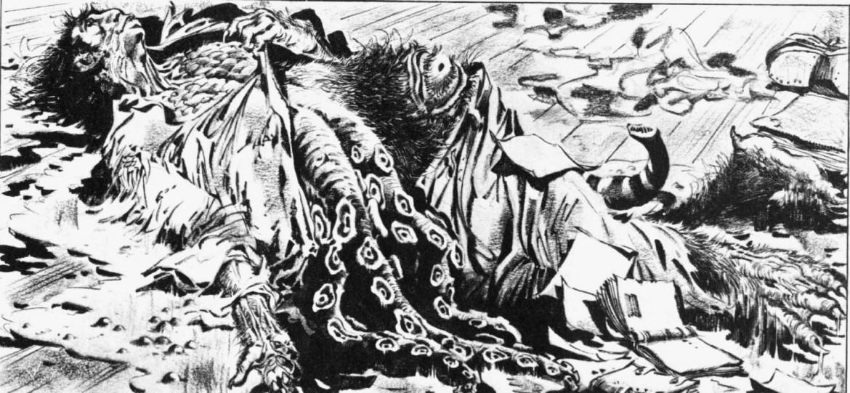 Illustrazione di Alberto Breccia a «I miti di Cthulhu»  di Howard Philip Lovecraft