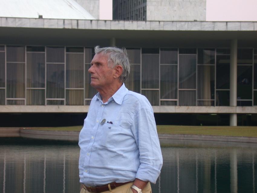 Luciano Semerani ritratto a Brasilia
