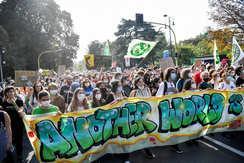Marcia per il clima a Milano